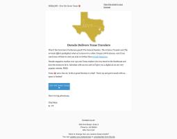 Dorado Magazine | Sales Email Marketing - Average a 30% open rate.