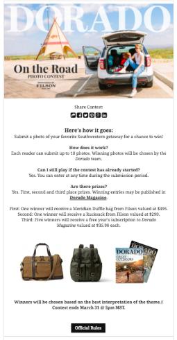 Dorado Magazine | Photo Contest Landing Page